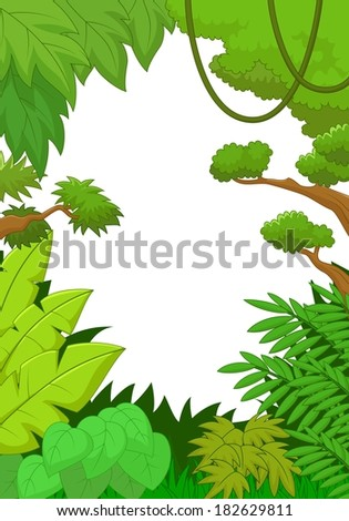 Tropical jungle background - stock vector