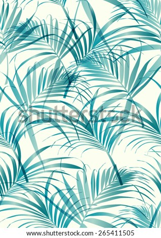 Tropical leaf pattern in vector. - stock vector