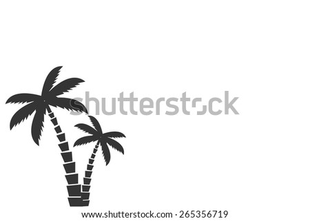 Tropical palm trees - stock vector