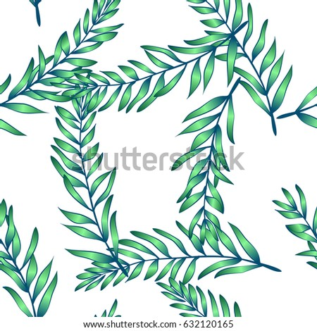 Tropical pattern. Jungle palm leave. Beautiful seamless vector background, exotic print.