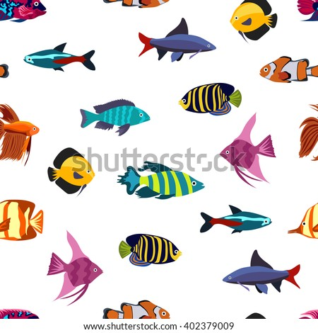 Fish vector stock vector 140921368 shutterstock for Seamless fish tank