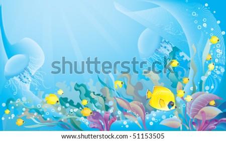 Tropical sea background - stock vector