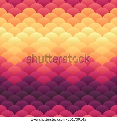 Tropical sunset warm blobs enhanced seamless vector background - stock vector