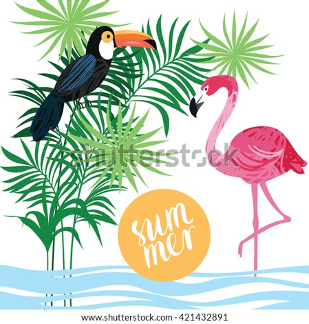 Tropical vector illustration - stock vector