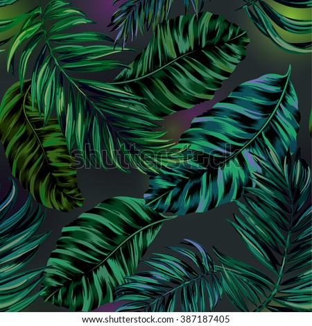 Tropical vector pattern - stock vector