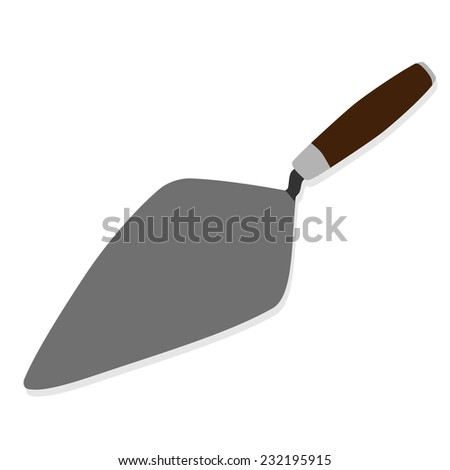 Trowel, building trowel, building tool, construction tool, building tool isolated - stock vector