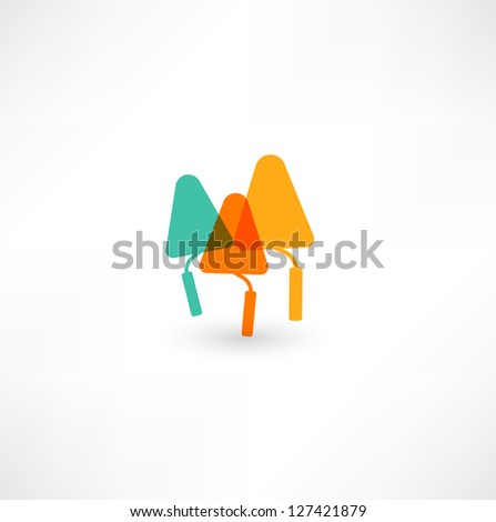 Trowel icon - stock vector