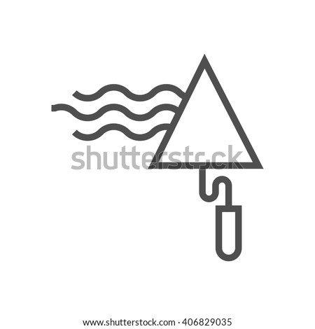 Trowel icon suitable for info graphics, websites and print media and  interfaces. Line vector icon. - stock vector