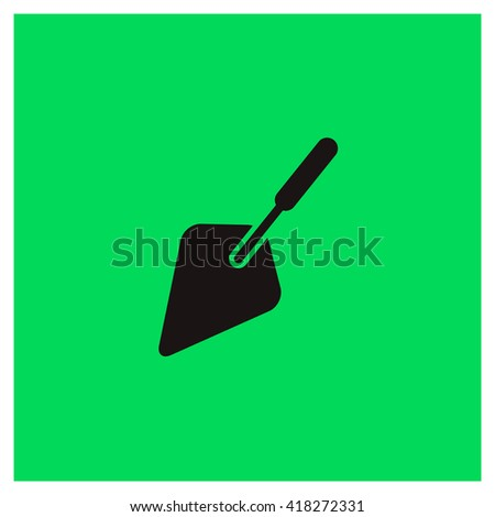Trowel Icon, Trowel Icon Eps10, Trowel Icon Vector, Trowel Icon Eps, Trowel Icon Jpg, Trowel Icon Picture, Trowel Icon Flat, Trowel Icon App, Trowel Icon Web, Trowel Icon Art, Trowel Icon Object - stock vector
