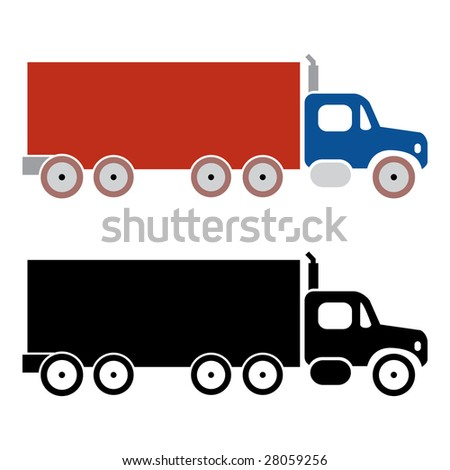 truck cargo icons on vector mode