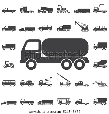 Truck Chemical Icon. Transport icons universal set for web and mobile