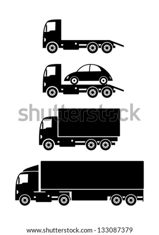 Truck collection - stock vector