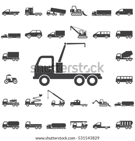 truck crane icon. Transport icons universal set for web and mobile