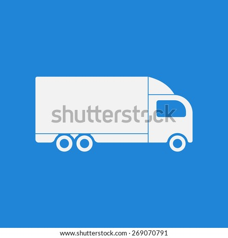 Truck, delivery icon,sign. Modern simple design,flat style. Vector illustration EPS8 - stock vector