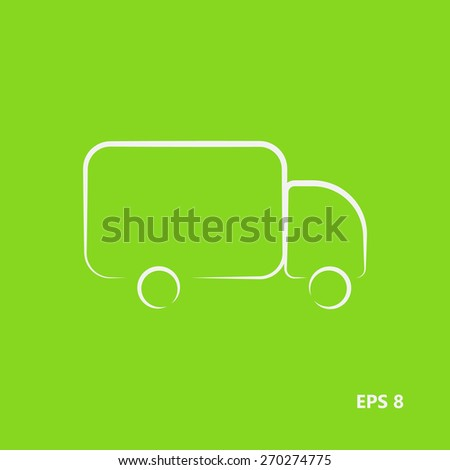 Truck linear style,logo. Delivery. Vector illustration EPS8 - stock vector