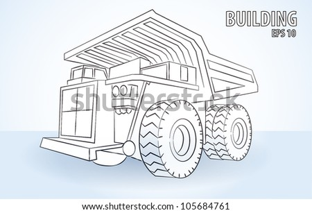 truck on the white background - stock vector