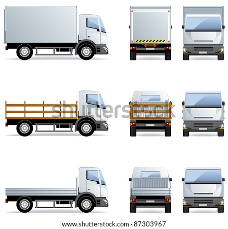 Truck (Set #12) in vector.