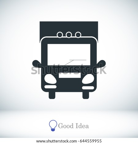 Truck sign icons, vector best flat icon, EPS