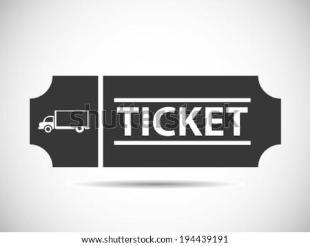 Truck Tickets - stock vector