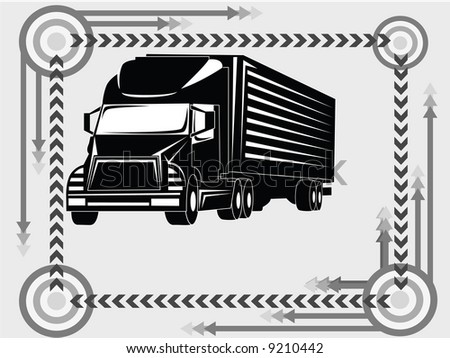 truck transport icon and background