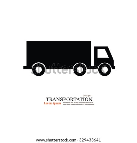 Truck.truck icon.truck vector icon .Transport icons.transportation vector illustration  - stock vector