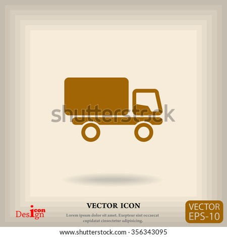 truck vector icon - stock vector