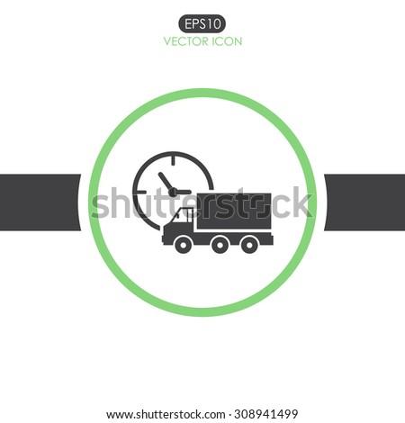 Truck vector icon. Delivery icon. - stock vector