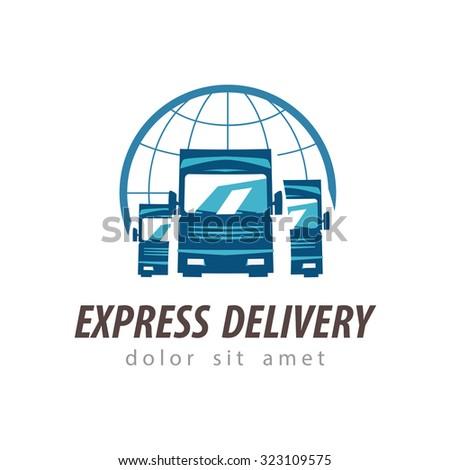 truck vector logo design template. shipping or delivery icon - stock vector