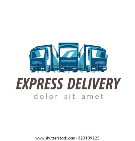 truck vector logo design template. traffic or delivery icon - stock vector