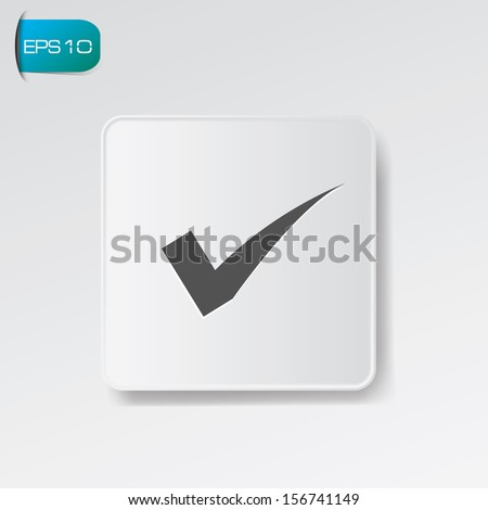 True button,vector - stock vector
