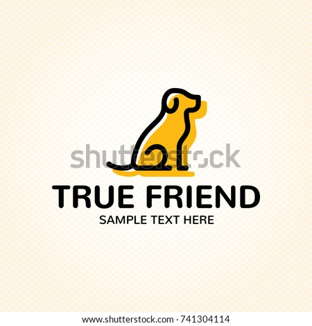 Fantastic True Dog Friend Logo Design Template Stock Vector 741304114  AK01