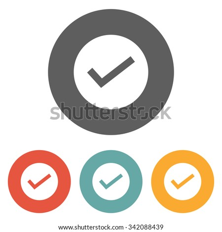 true icon - stock vector