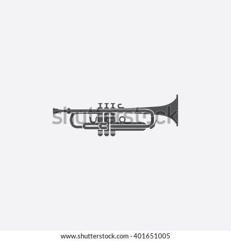 Trumpet icon. Trumpet icon vector. Trumpet icon simple. Trumpet icon app. Trumpet icon new. Trumpet icon logo. Trumpet icon sign. Trumpet icon ui. Trumpet icon draw. Trumpet icon eps.Trumpet icon art. - stock vector
