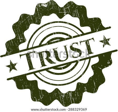 Trust rubber grunge stamp - stock vector