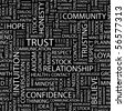 TRUST. Seamless vector background. Word cloud concept illustration of  association terms. - stock photo