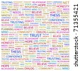 TRUST. Word collage on white background. Vector illustration. Illustration with different association terms. - stock photo
