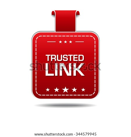 Trusted Link Red Vector Icon Design