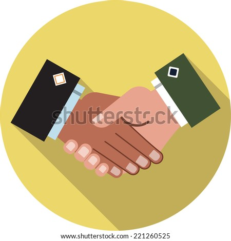 Trusted Partnership - stock vector