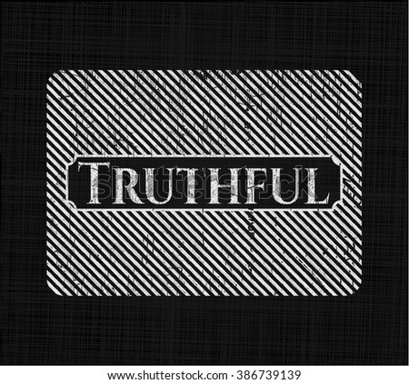 Truthful with chalkboard texture - stock vector