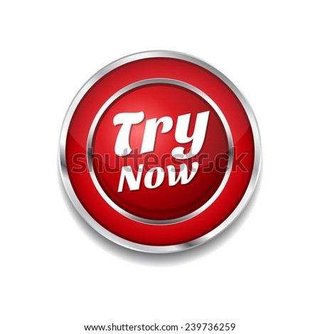 Try Now Red Vector Icon Button