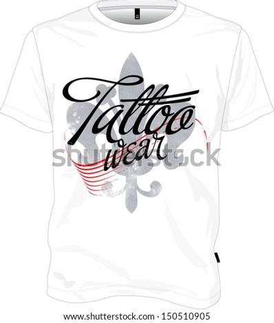 Tshirt design tattoo wear - stock vector