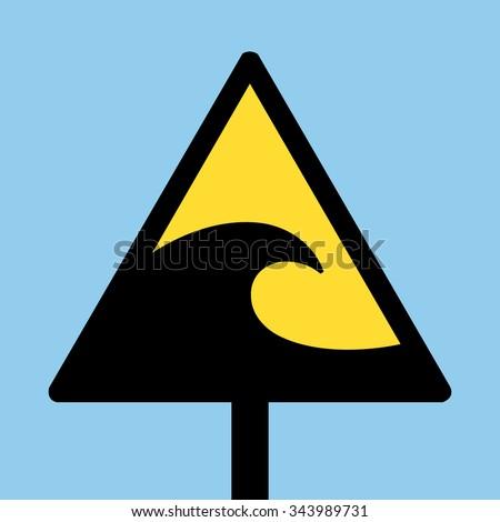 Tsunami Sign - stock vector