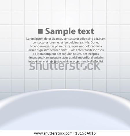 bathroom tiles background. Tub On The Background Tiles, Bathroom Tile White, Vector Illustration Tiles O