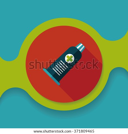 tube flat icon with long shadow - stock vector