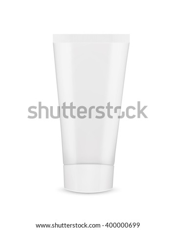 Tube of cream or gel. Mock-up. Vector icon. EPS10