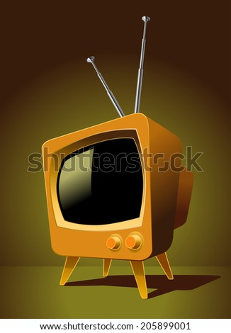 Tube television TV Noise - stock vector