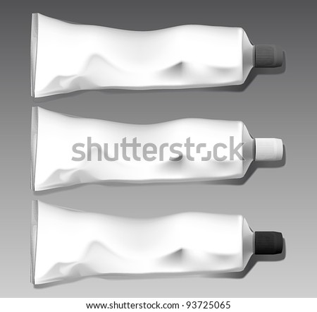 Tube template set - stock vector
