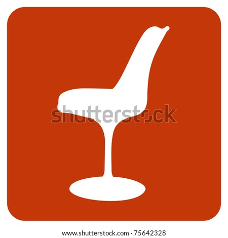 Tulip chair icon. Vector available - stock vector