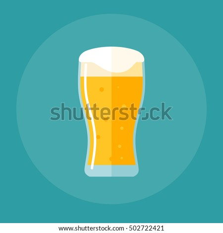 tulip pint glass flat icon