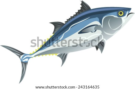 tuna - stock vector
